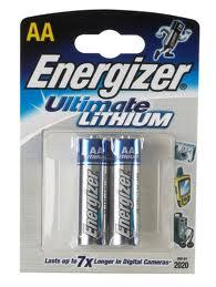 ENERGIZER LITHIUM AA 2-PACK L91BP2