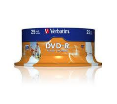 VERBATIM DVD-R 4,7 GB 16 X 25 -PACK PRINTABLE