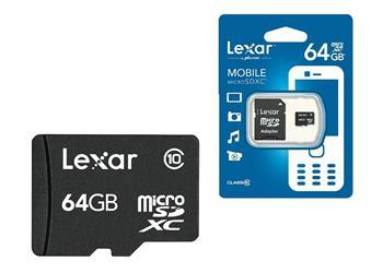 Lexar microSDXC 64GB with SD Adapter Class 10